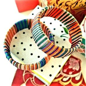 Bangles multicolored with thread work